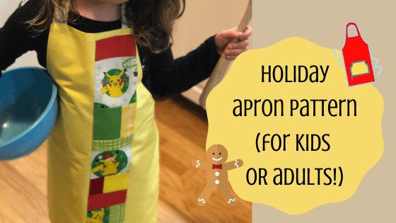 kid holiday apron pattern