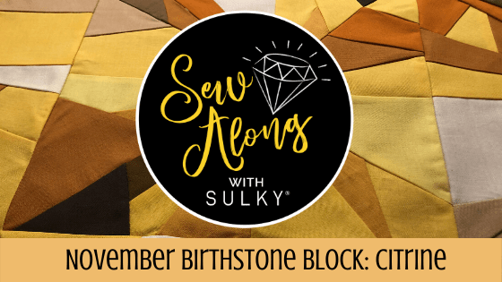 November Birthstone Block: Citrine