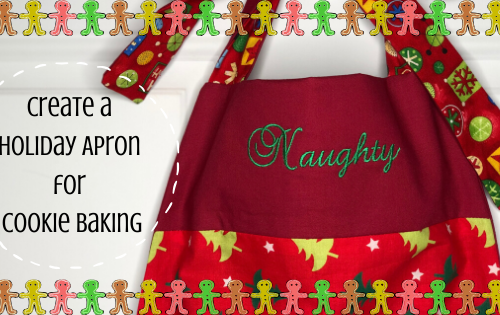 Holiday Apron for Cookie Baking