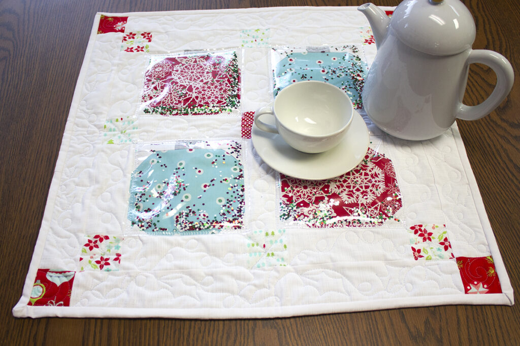 paper pieced ornament table topper full