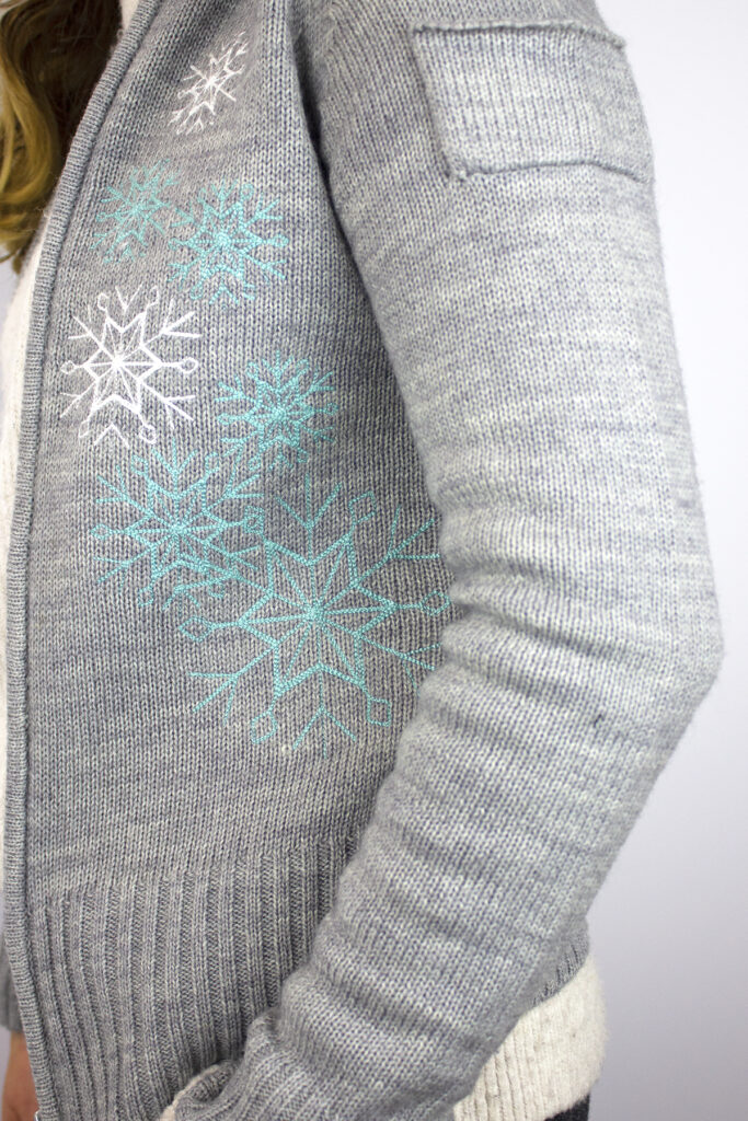 embroidered cardigan for winter