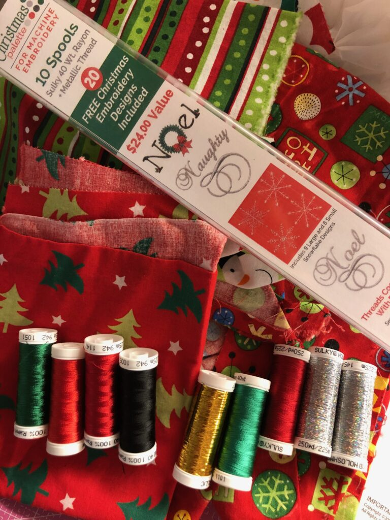 Embroidered Holiday Apron Supplies