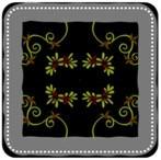 Embroidered Velvet Pillow with Fringe