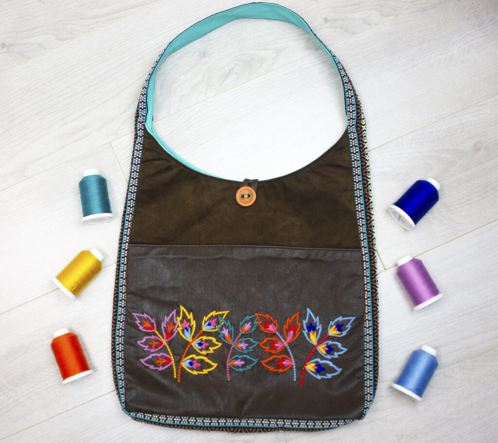 filaine embroidered bag with thread