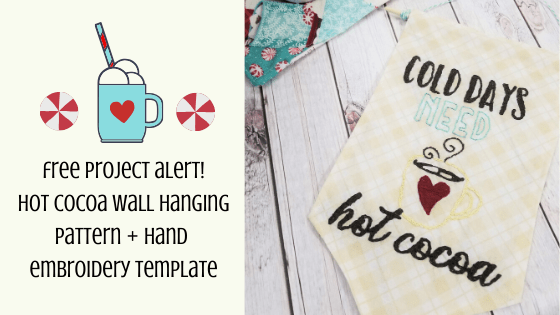 hot cocoa wall hanging