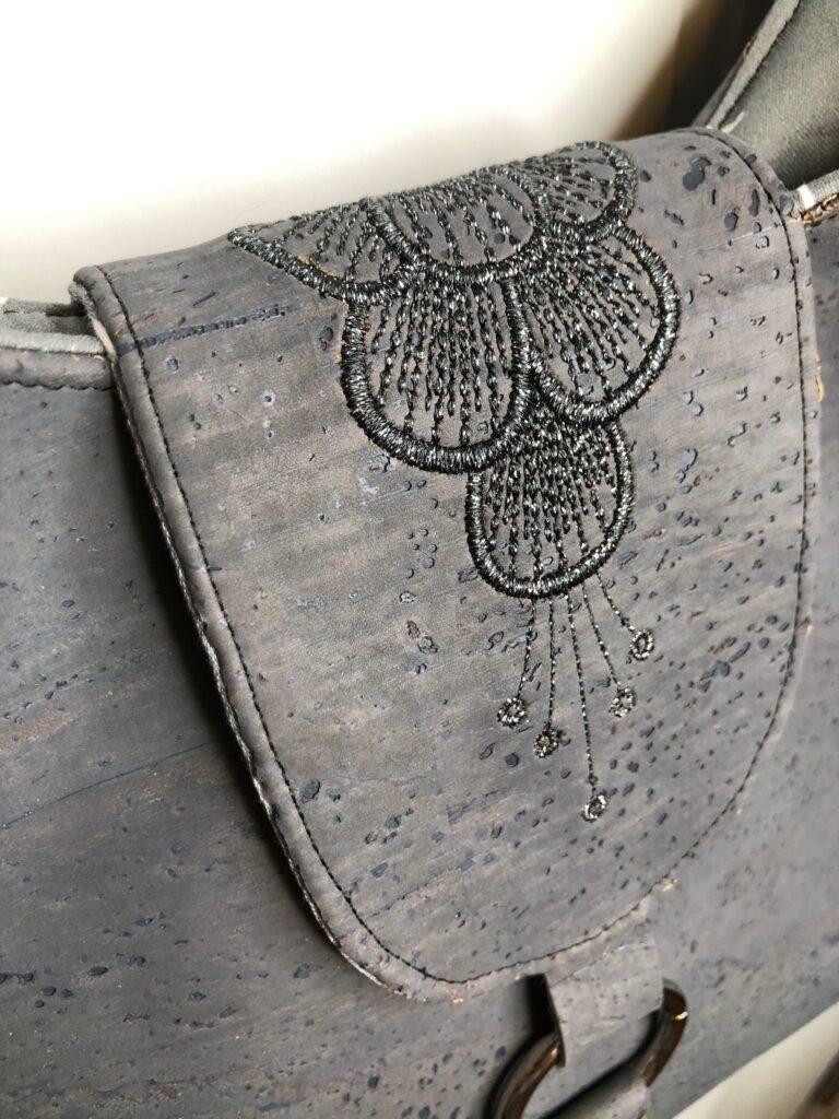 charcoal hobo cork bag