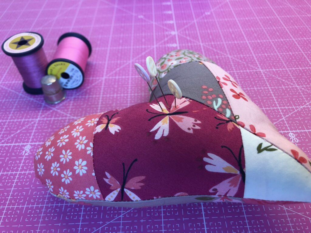 valentine gift heart pincushion