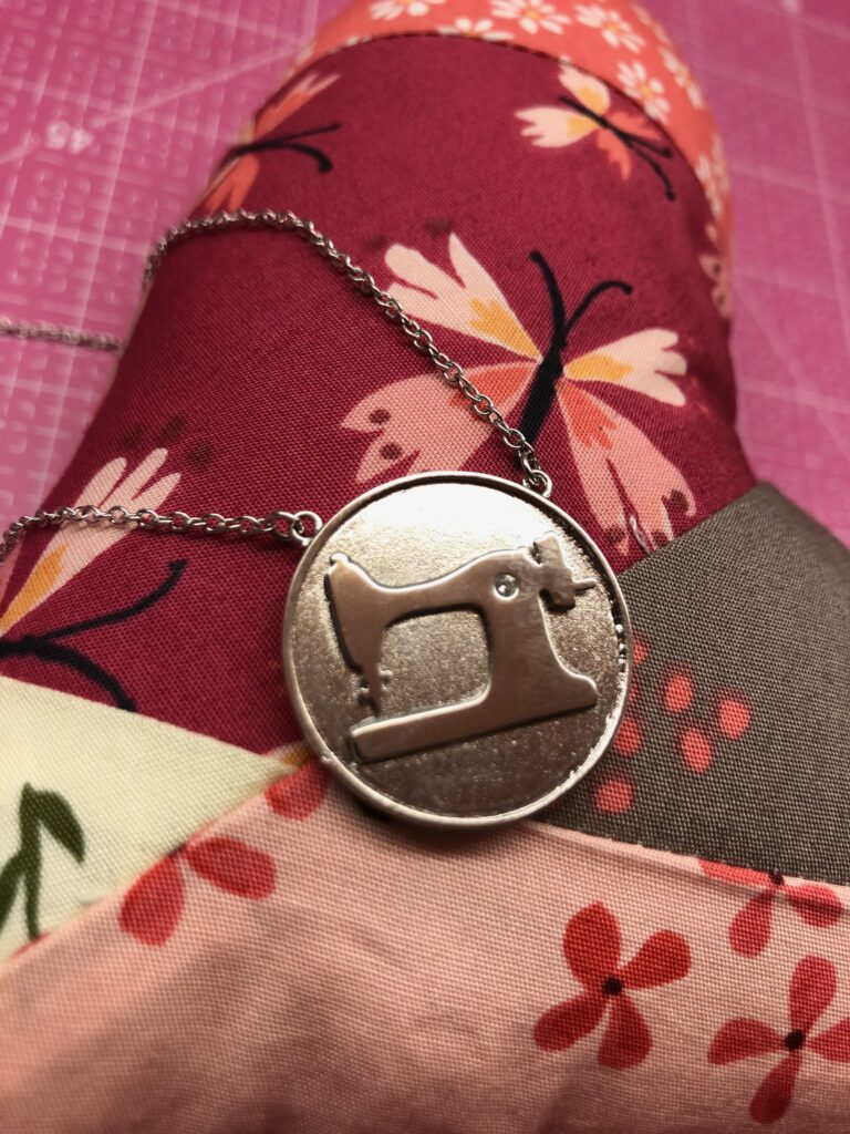 valentine gift sewing coin necklace
