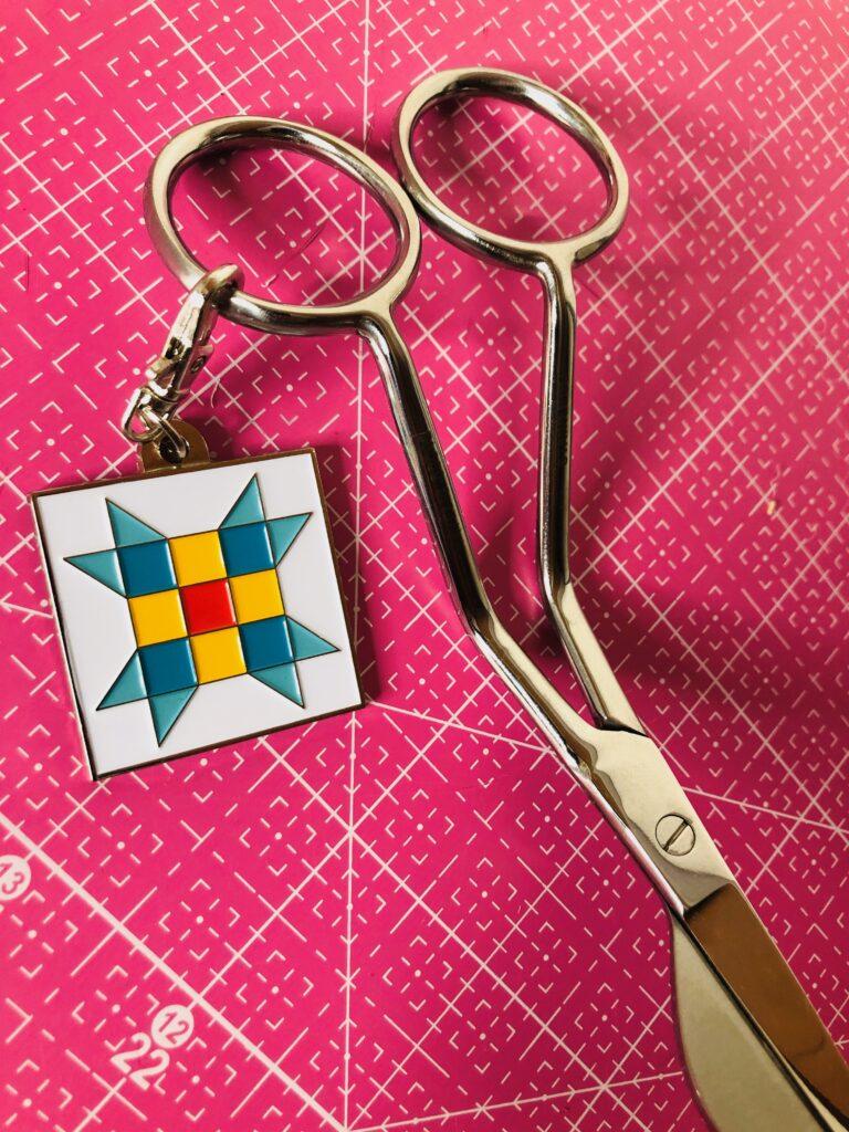 valentine gift quilt block charm