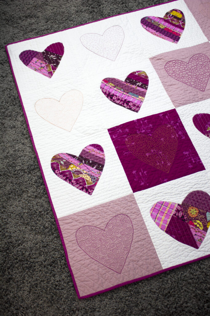 Paper Pieced Heart Quilt