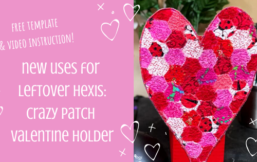 Crazy Patch Valentine Holder