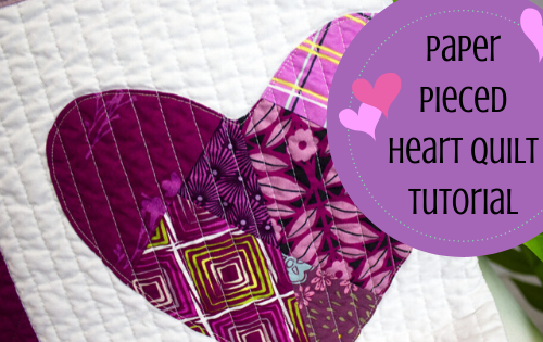 paper pieced heart quilt tutorial