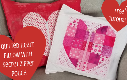 secret heart pillow