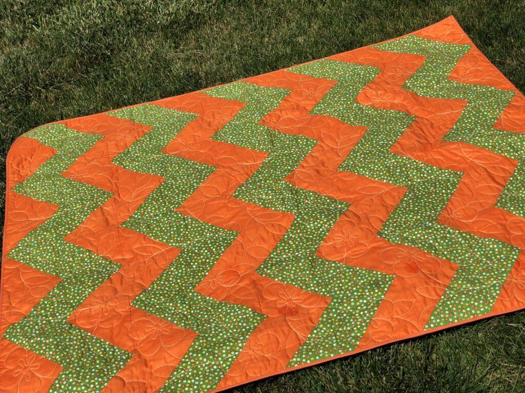 chevron quilt for beginners