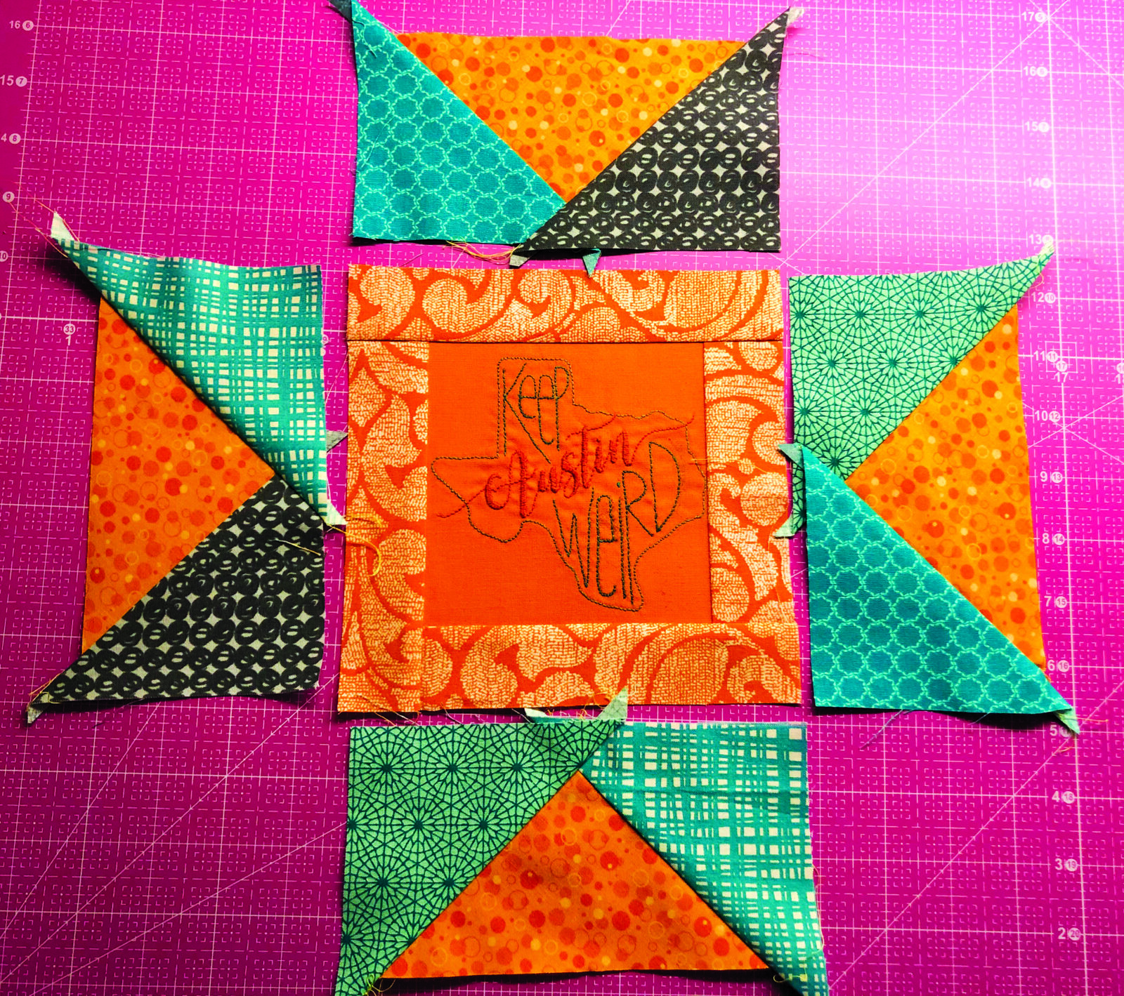sawtooth star quilt block
