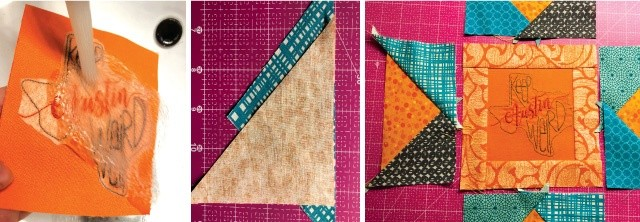 quilt block pillow