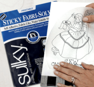 sticky fabri-solvy for quilting