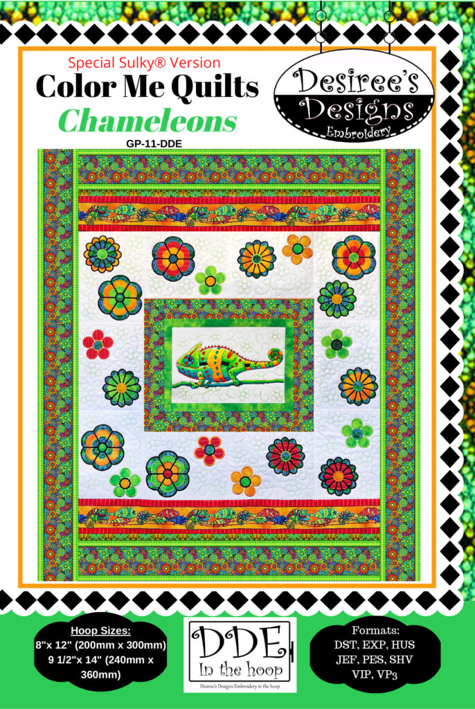 Color Me Chameleon Quilt pattern