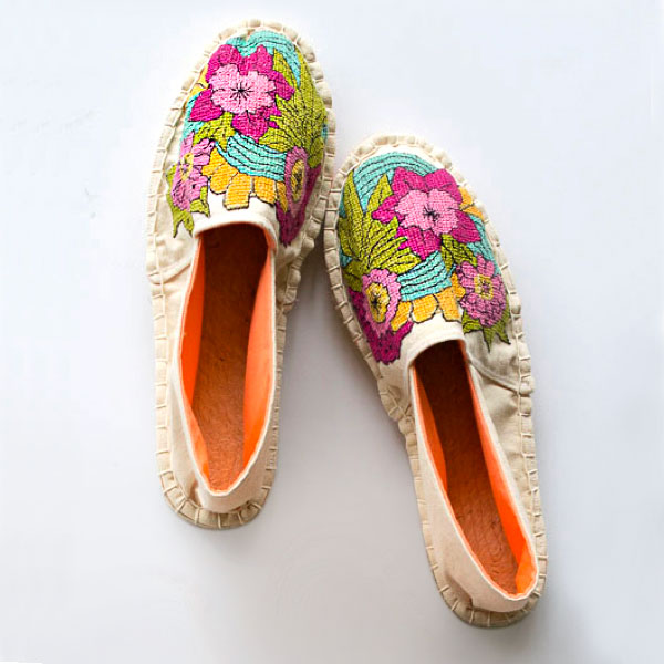 hand embroidery on shoes