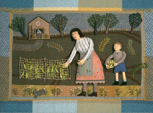 Picking Peas by Sallie Mavor