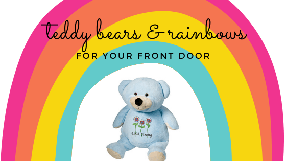 teddy bears and rainbows