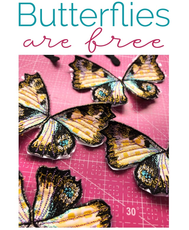 Butterflies in the hoop