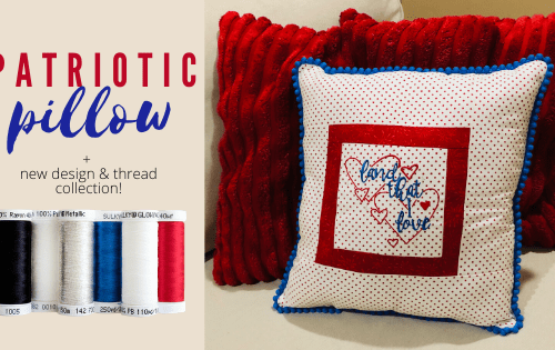 Patriotic Pillow Project