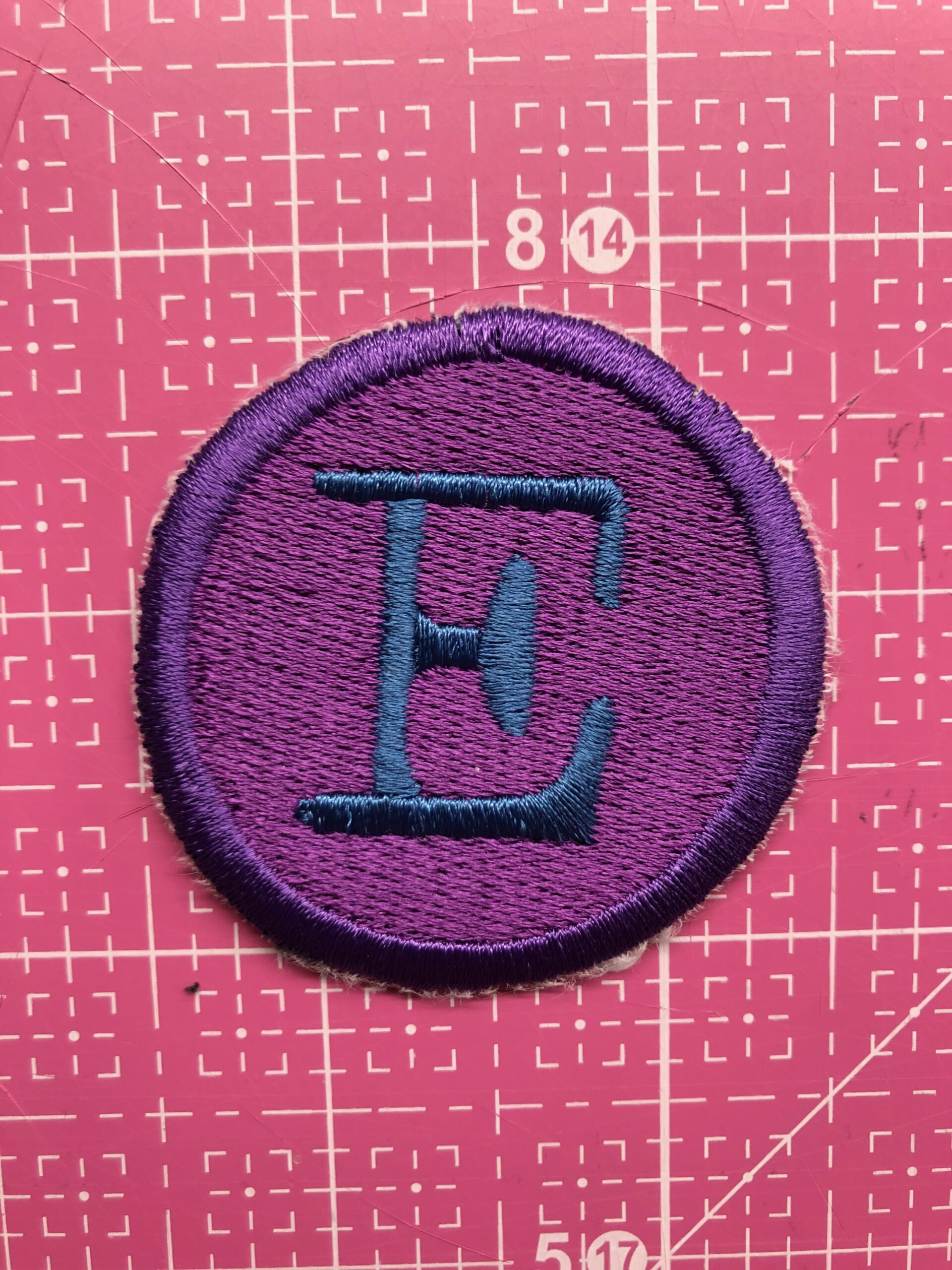 finished patch for how to sew faux leather