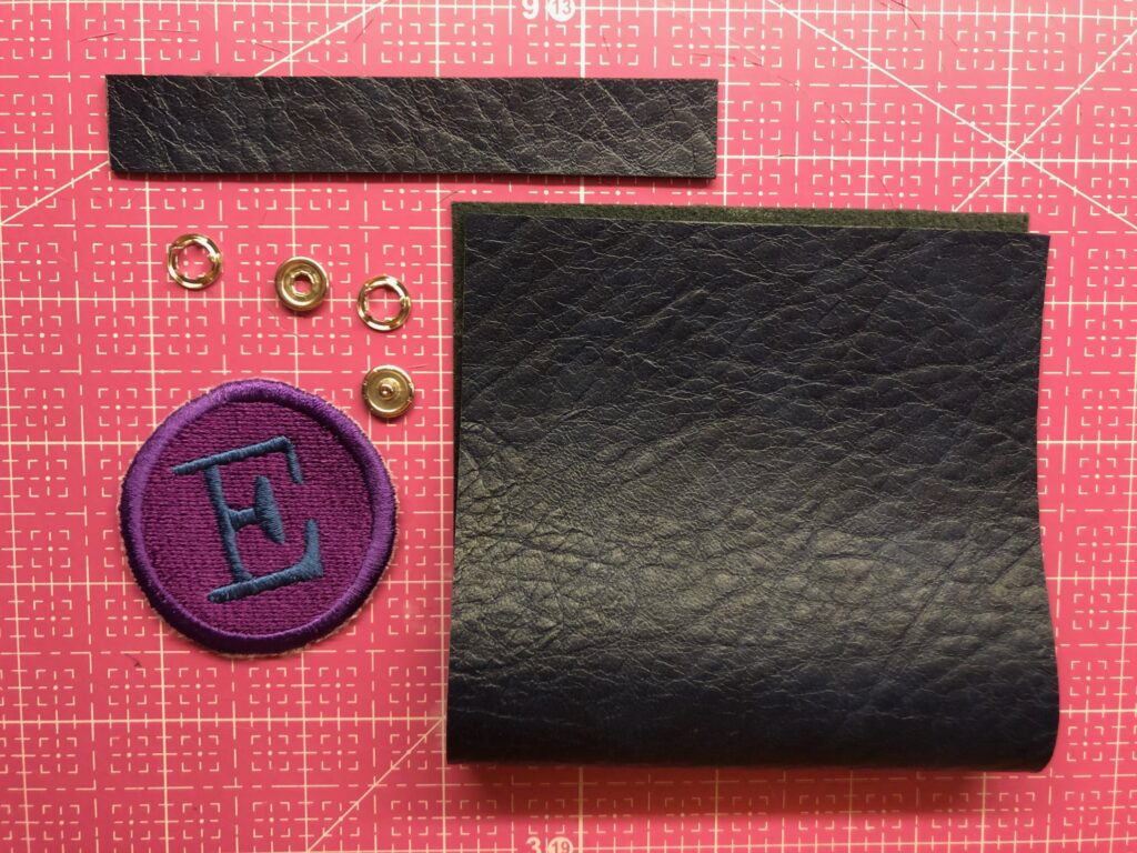 bag tag supplies for how to sew faux leather