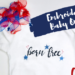 Sulky Born Free Embroiderd Baby Onesie