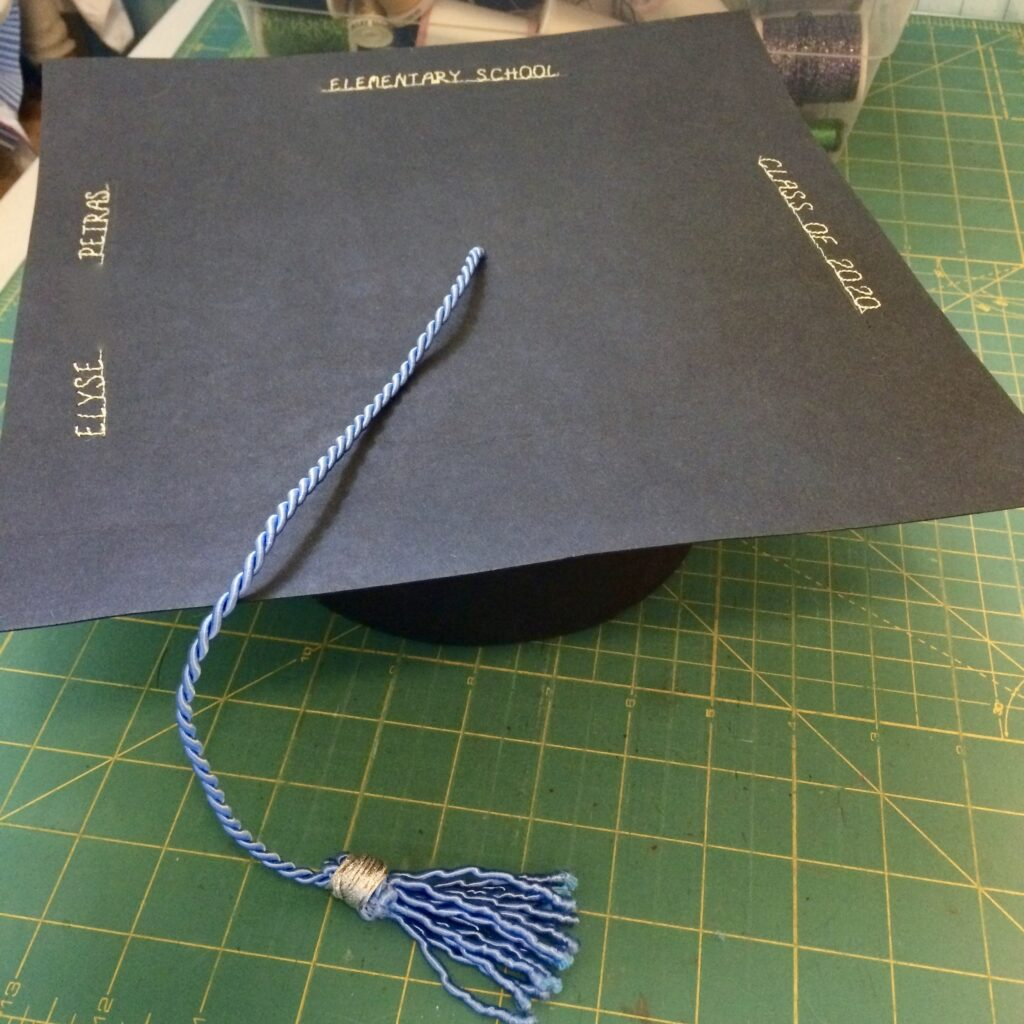 finished DIY graduation cap