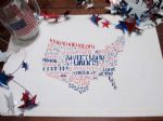 July 4 project place mat