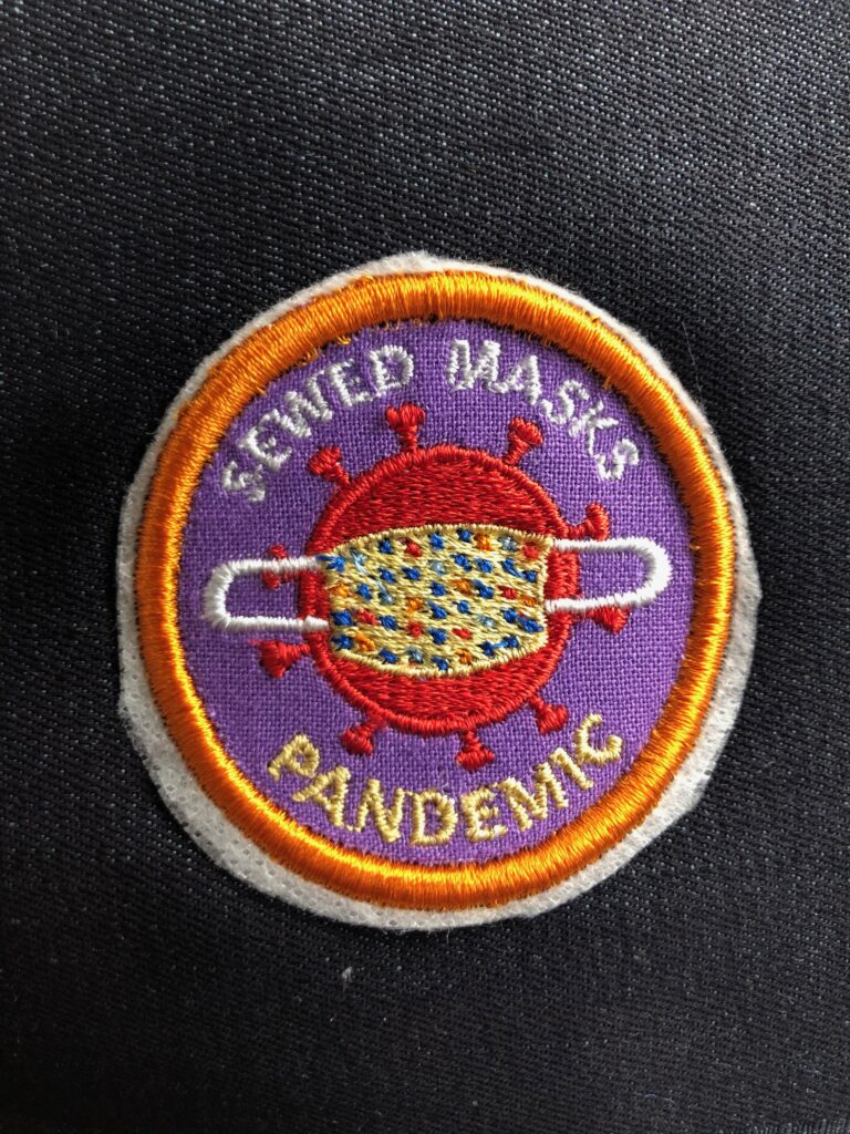 pandemic patch on denim