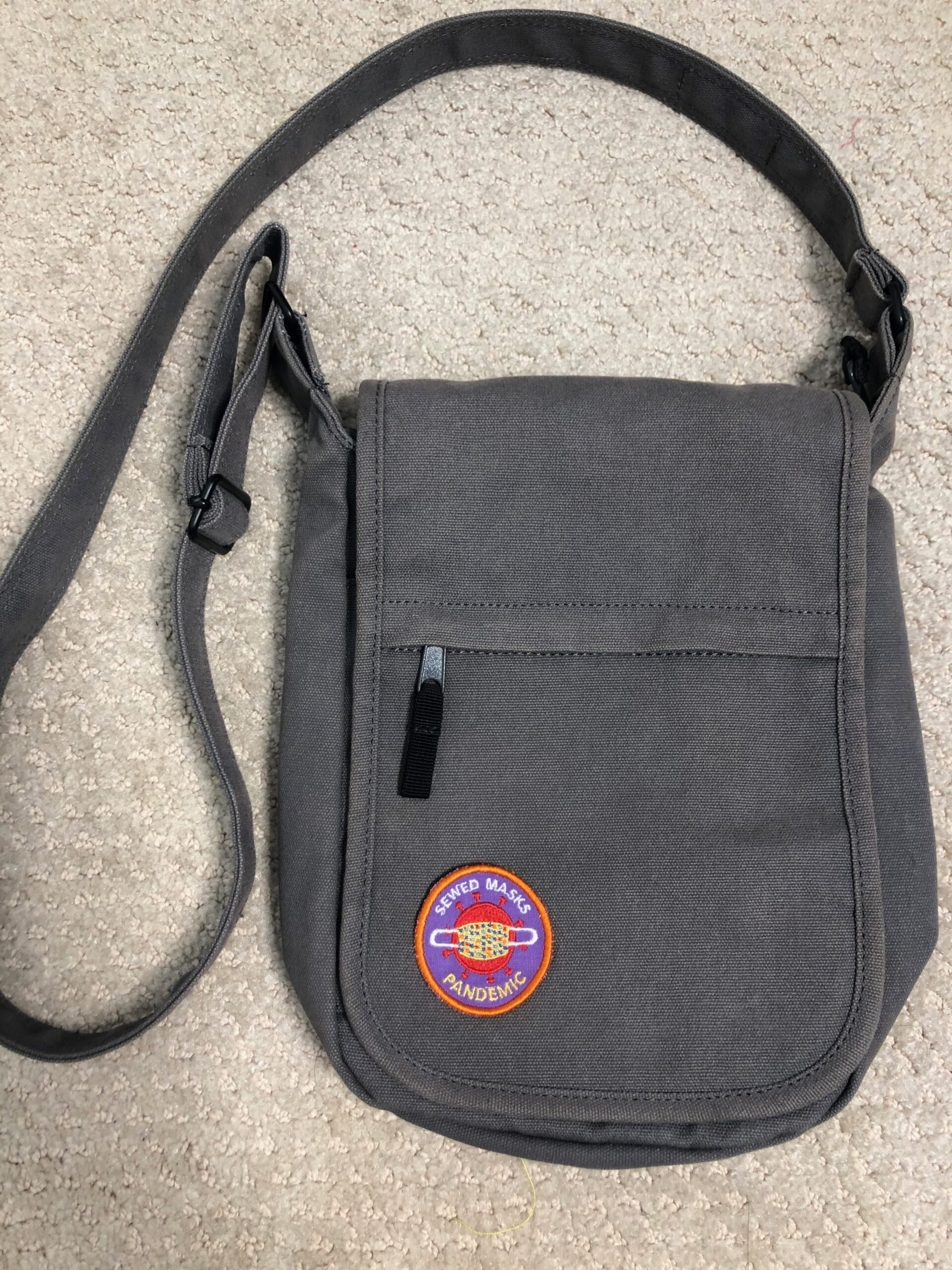 pandemic patch on tote bag beauty shot