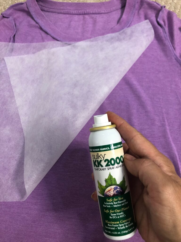 stabilizer for T-shirt embroidery