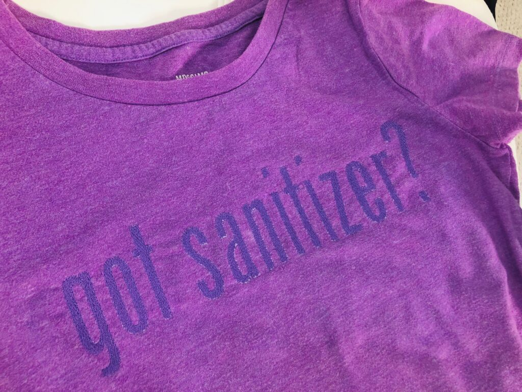 finished got sanitizer? T-shirt embroidery
