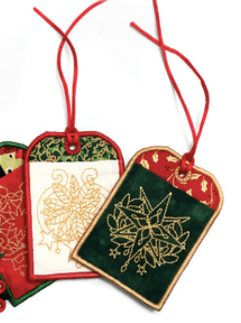 holiday sewing project gift tags