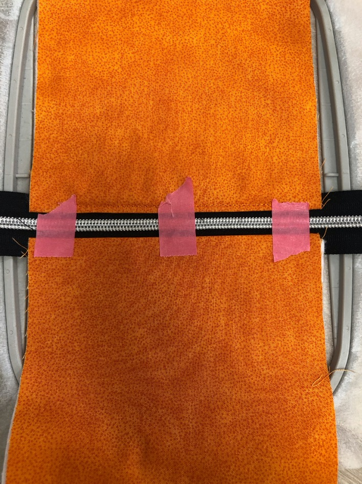 Steampunk pumpkin zipper in the hoop