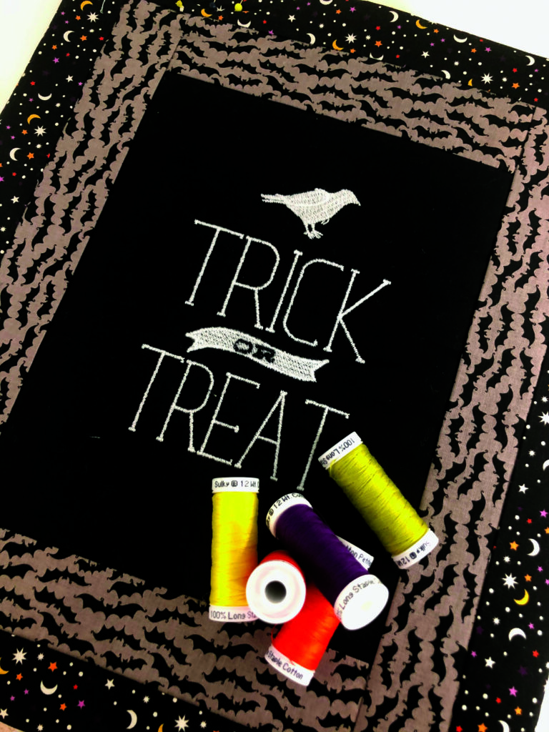 Halloween table runner quilting threads