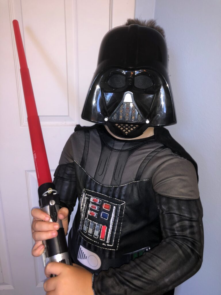 Darth Vader Costume with CRY Reflective Thread