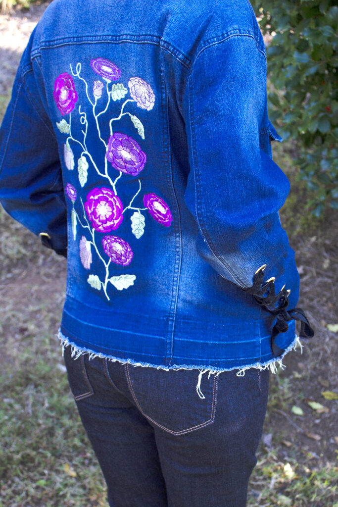 jean jacket denim embellishment