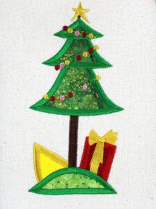 Embroidered Christmas Stocking Design Idea