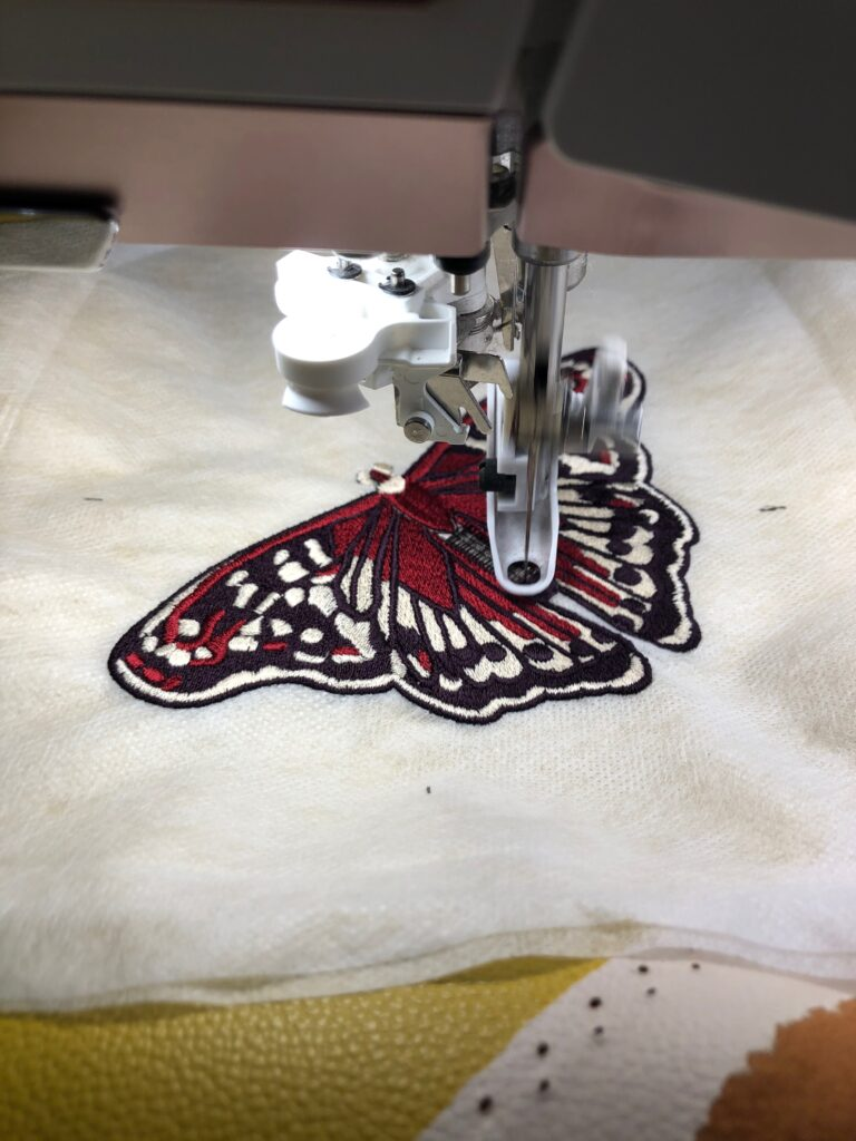 faux leather embroidery techniques