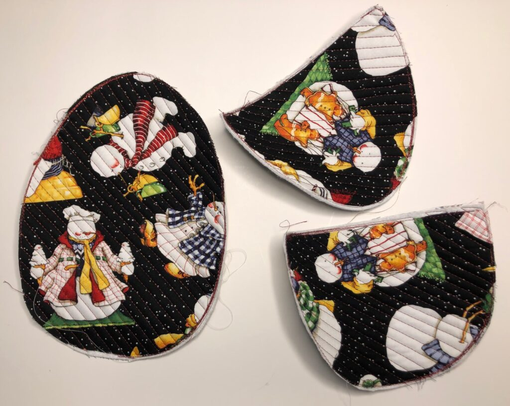 holiday potholder pieces