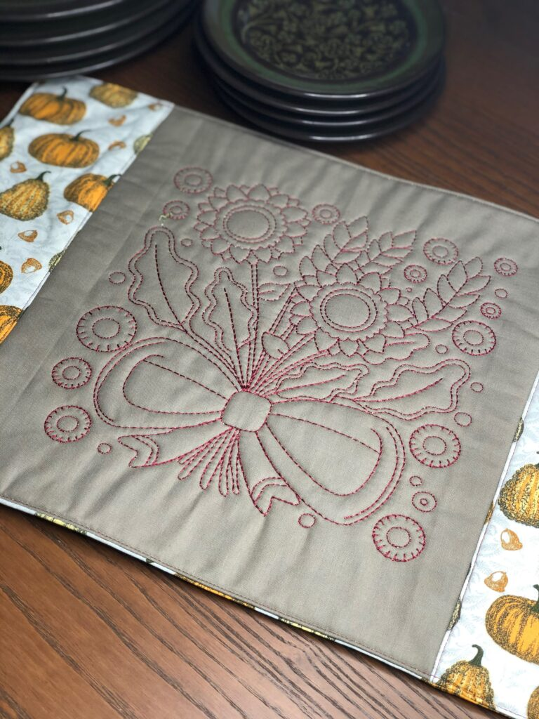 thanksgiving placemat - floral