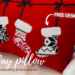 holiday pillow pattern with embroidered stockings