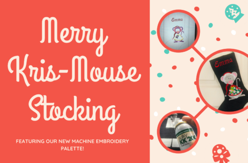holiday stocking with Merry Kris-Mouse palette