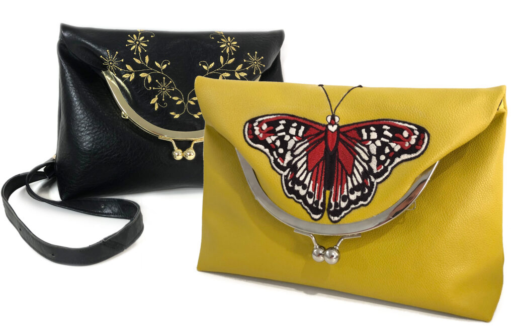 faux leather embroidery techniques with Clara Bag