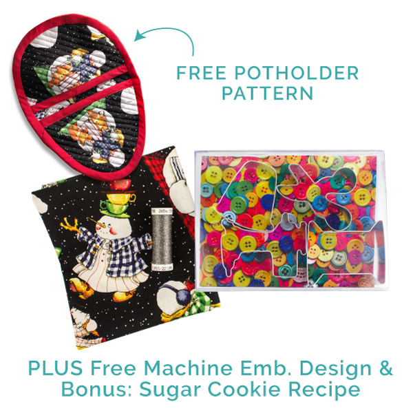 holiday potholder with cookie cutters kit