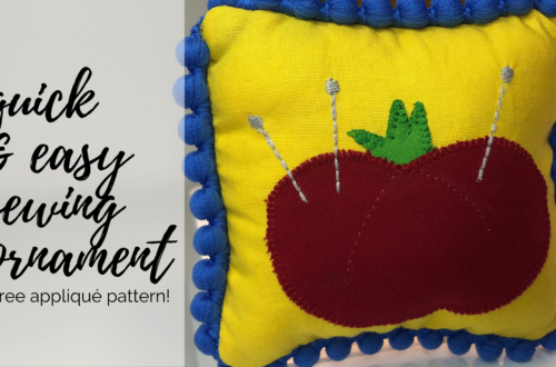 quick & easy sewing ornament